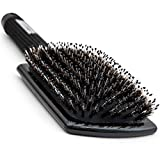 Paddle Hair Brush for Blow Drying with Boar and Nylon Bristles - Flat
