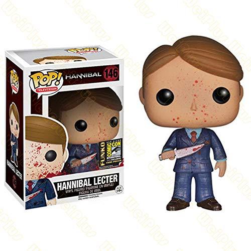 Funko Pop Hannibal 146# Lecter Figuras de accion de Vinilo coleccion brinquedos Juguetes Modelo para Regalo de ninos-con Caja 146