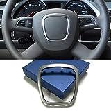 Piaobaige Cornice cromata Volante Cornice Stemma Stemma Copertura Logo Centrale Anello Adesivi Accessori, per Audi A4 B6 B7 B8 A5 A6 C6 Q7 Q5