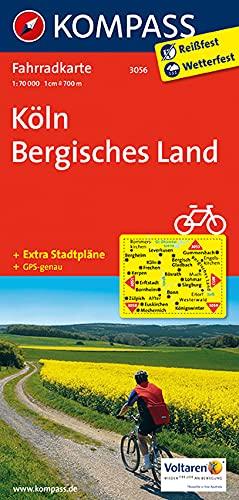 KOMPASS Fahrradkarte Köln - Bergisches Land: Fahrradkarte. GPS-genau. 1:70000 (KOMPASS-Fahrradkarten Deutschland, Band 3056)