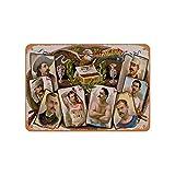 Fhdang Decor 1887 Champions Cigarros Heroes of the Day - Señal de metal de aspecto vintage, metal, multicolor, 6x9 inches