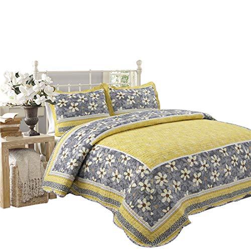 Teyun. Quilting Quilt im Sommer Cotton Drucken Dreiteilige, Heimtextilien Bettdecke Klimaanlage Quilt. (Color : Multicolor)
