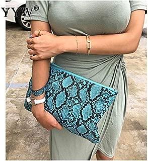 iBag's Fashion Snake Printed Women'S Clutch Bag Leather Women Envelope Bag Clutch Evening Bag Female Grey Handbag Immediately Shipping