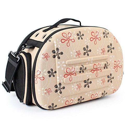 Portabebés portátil para mascotas y gatos, jaula plegable de viaje, bolsa de...