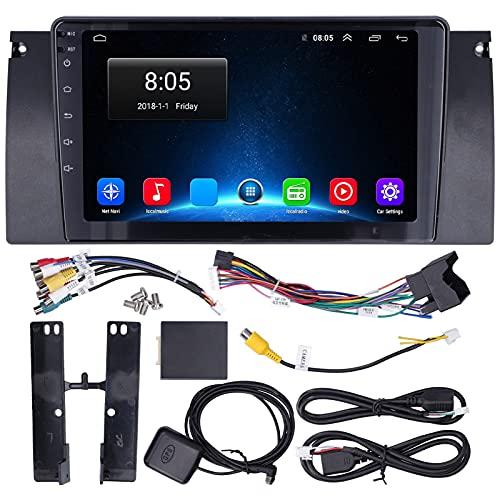 Reproductor multimedia para automóvil de 9 pulgadas Navegación GPS para Android 10.0 Pantalla táctil WiFi compatible con 5 Series E39 1996-2001 Viejo de 17 pines (1 + 16G)