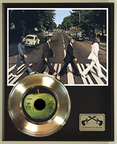 Beatles Come Together Record Display Wood Plaque