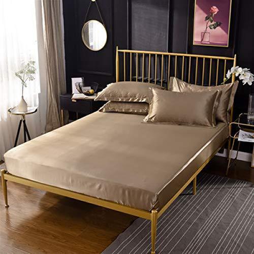 Bolo Sábana bajera para cama individual, no necesita planchado, polialgodón, sábana bajera de 100 % poliéster, sábana de cama individual, no necesita planchado, 180 cm x 200 cm