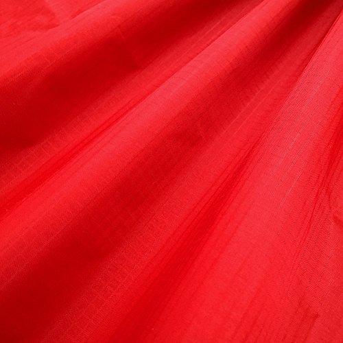EMMAKITES Rojo 1.69Oz tejido de nylon ripstop 152x91cm Resistente a los rayos UV Resistente al agua y suave a la PU Recubrimiento Excelente tela para cometas Skydancers Inflatalbes Lonas cubiertas Proyectos creativos por patio
