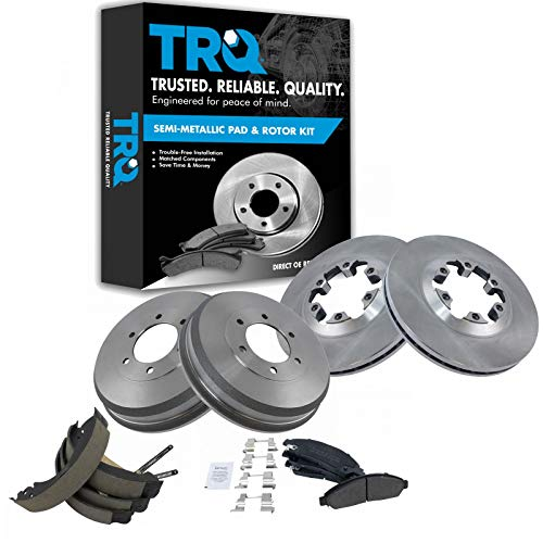 Brake Shoes Drums & Pad Rotor COMPLETE Kit for Chevy Isuzu Pickup Truck