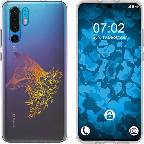 Preisvergleich Produktbild PhoneNatic Case kompatibel mit Huawei P30 Pro Silikon-Hülle Floral Fuchs M1-3