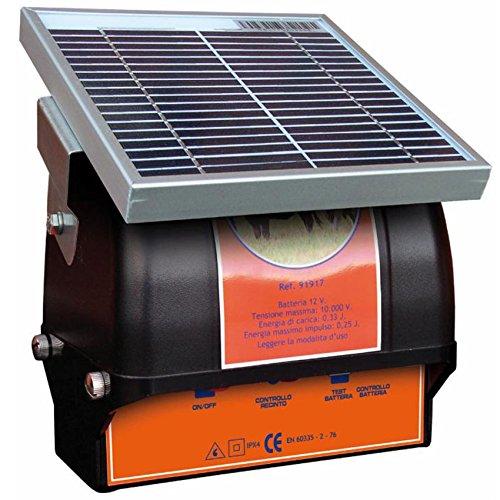 P S250 - Electrificador de valla con panel solar con batería para Bestiame