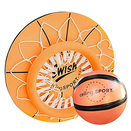 FXQIN Dentro de Mini Aro de Baloncesto en la Sala de Oficina Mini Canasta De Baloncesto para Techo Basketball Hoop Baloncesto Junta Niños Deportes de Ocio con Balón y Red
