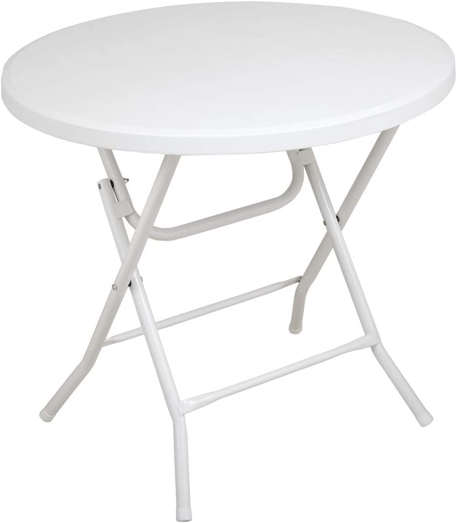 Colorado Springs Mall 2.6' Round Folding Table Super Special SALE held Desk Height Rou Adjustable