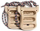 Ucraft Rock Climbing EVO Rings 3D Hangboard | Light Portable Wooden Hang Boards for Climbing Training