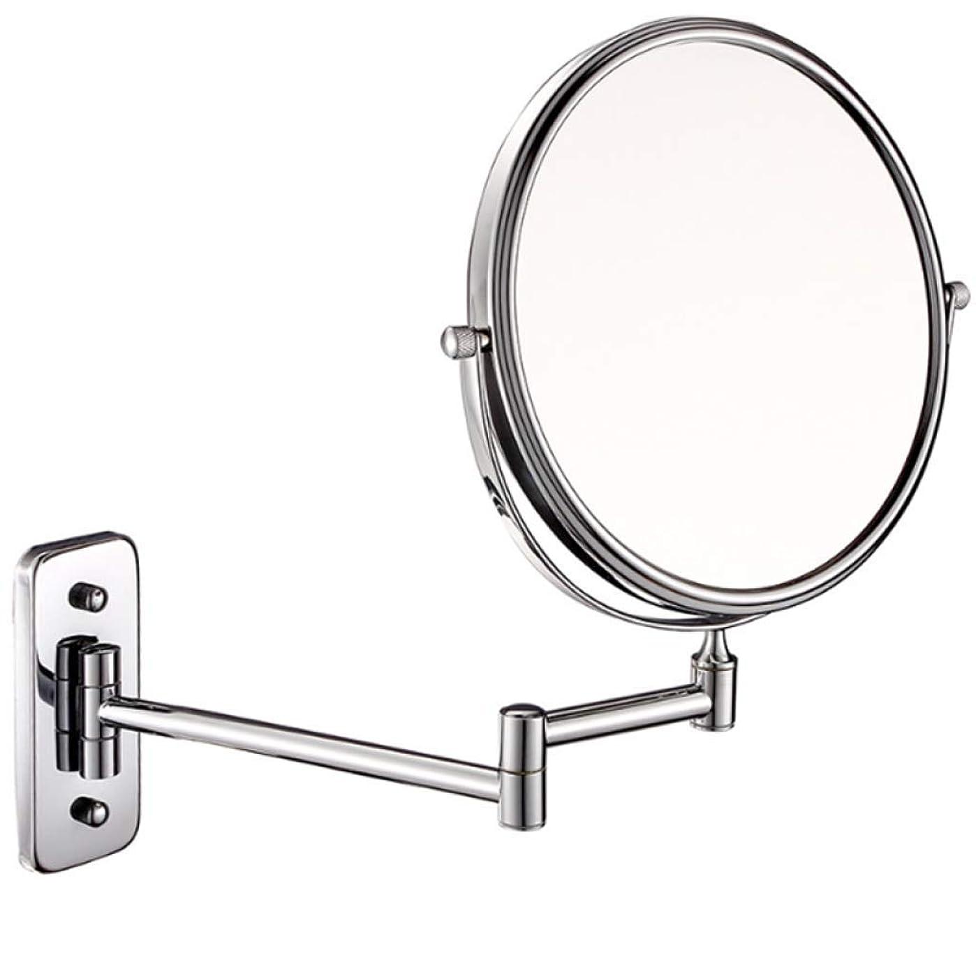 世紀抗生物質ピストルALYR 両面 化粧鏡、壁掛け式 化粧鏡 3 ズームイン 化粧鏡 スケーラブル 360°回転 バスルームミラー ベッドルームまたはバスルームで剃る,Silver
