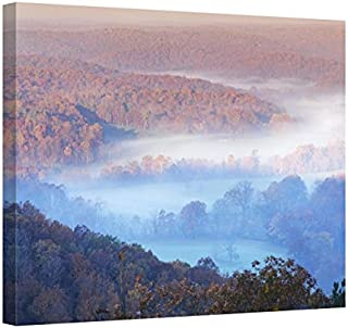 Easy Art Prints Charles Gurche's 'View from Skyline Drive' Premium Canvas Art 8 x 10