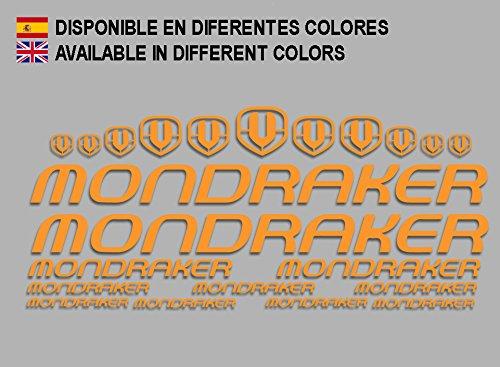 Ecoshirt VP-FU52-WN00 Aufkleber Mondraker F163 Vinyl Adesivi Decal Aufkleber-Set públicŸ MTB Stickers Bike, orange