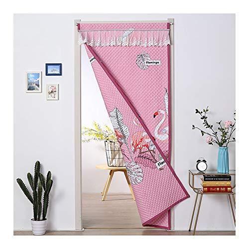 MAHFEI Wärmeschutzvorhang Panels, Verdunkelungsvorhänge Doppelseitiges Muster Vorhang Vorhänge Warm Halten Energieeffizient Für Den Datenschutz Vorhänge Drapieren (Color : Pink, Size : 90x180cm)