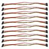 Cable de extensión Sata, 10 piezas Cable Sata de 7 + 15 pines macho a hembra Cable de extensión de alimentación de datos de 22 pines para transmisión de datos de disco duro externo