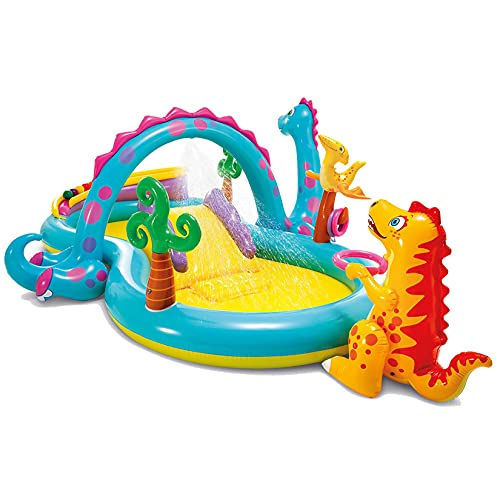AIYIFU Bouncy Castle Inflatable Trampoline Slide with Inflator Dinosaur Shape for Kids Age 3-12 Easy to Climb, Safe and Stable,Children's Inflatable Water Slide Toys,