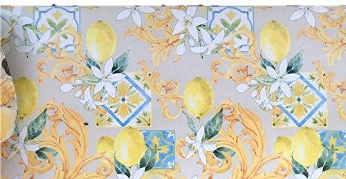LaVelaHOME Tappeto Cucina a metraggio PVC Largo 50 cm marmette cementine azulejo (Star-Limoni)