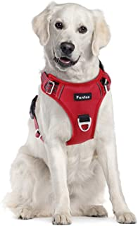 Funfox No Pull Dog Harness for Large Dogs, Adjustable Dog Vest Harness for Easy Walking with Reflective Strips, Front Clip...