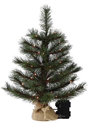 Gartenpirat Weihnachtsbaum 40 cm 35 LED batteriebetrieben mit Timer Tanne künstlich klein beleuchtet für Tisch