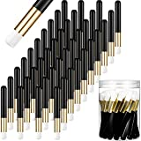 Lauwell 40 Pieces Lash Shampoo Brushes Nose Pore Deep Cleaning Brush Peel off Blackhead Removing Brush Tool Cosmetic Lash Cleanser Brush Facial Cleansing Brushes with Storage Box (Black)