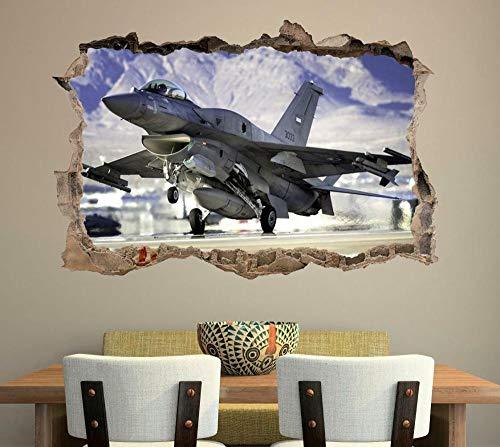 YJYG Pegatinas de pared Avión de combate de lucha rompiendo la etiqueta de la pared etiqueta de la pared art h957 Halloween gift 50 * 70cm