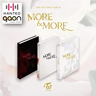 Twice - More and More [A+B+C ver. Full Set] (9th Mini Album) [Pre Order] 3CD+3Photobook+3Folded Poster+Others with Extra Decorative Sticker Set, Photocard Set