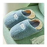 Zapatillas de algodón, para Hombre Mujer Invierno Pareja Lindas Zapatillas de algodón Zapatos de Mujer Zapatillas de Tela elástica Zapatos Planos cálidos Suaves (Color : White, Size : 11)