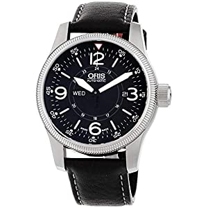 Oris Big Crown Timer Black Dial Brown Leather Automatic Mens Watch 735-7660-4264LS image