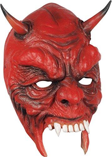 Loftus Halloween Devil Costume Face Mask, Red Black, One Size