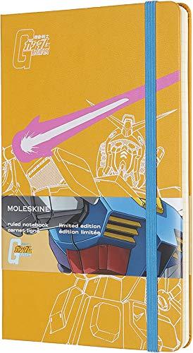Moleskine Notebook Gundam Edizione Limitata, Taccuino Copertina Rigida, Chiusura ad Elastico e Pagina a Righe Colore Giallo, Dimensione Large 13 x 21 cm, 240 Pagine