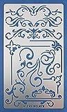 Aleks Melnyk #3 Stencil in Metallo Riutilizzabili per Pittura, 1 pezzo/Stampo Stencil con Fiori, Vintage, Shabby Chic/Stencil da Cartolina, DIY/Template di Pittura Decorativo/Stencil per Scrapbook