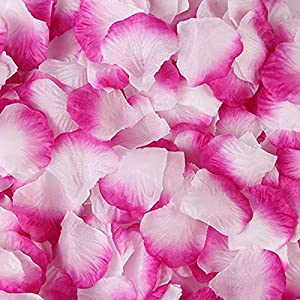 DJBM 1000 Pieces Rose Petals Artificial Flower Petals for Wedding Party Decoration Lilac White