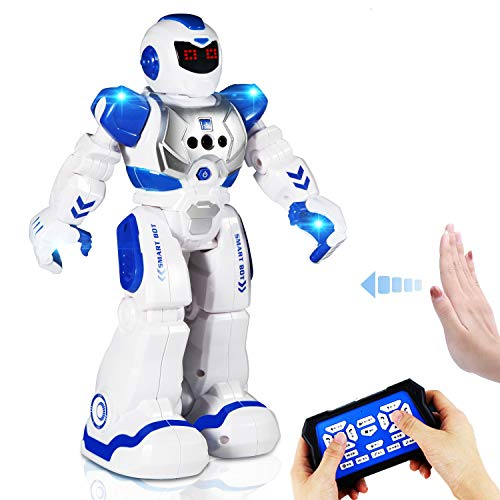 AILUKI RC Robot Toy ,Programmable Intelligent Sing Dance Walk Smart Robotics, Robot Gift for Kids