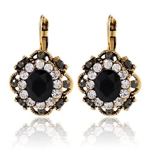 LYFLYF wit goud met diamanten kristallen oorbellen vrouwelijke modellen Multi kleuren optioneel niet allergisch niet vervagen legering sieraden