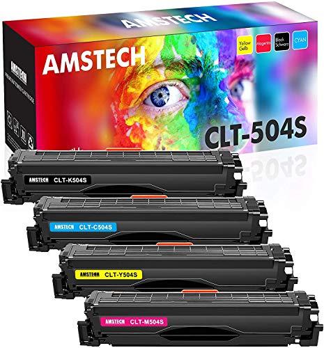 Amstech Kompatibel Tonerkartusche Replacement für CLT-P504C CLT-K504S CLT C504S M504S Y504S für Samsung Xpress C1860FW C1810W Samsung CLX-4195FW CLX-4195FN CLX 4195 CLX-4195N CLP-415N CLP-415NW