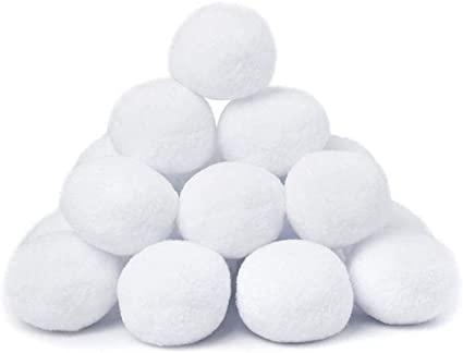 alpha-grp.co.jp AMAZING TIME 50 Pack Indoor Fake Snowball Plush ...