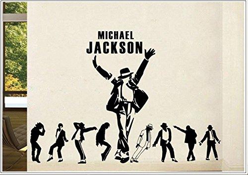 Deco-idea Wandtattoo wandaufkleber wandsticker Photo Porträt Michael Jackson tanzen wph040(Printed Sticker,ca.15 x 6cm)