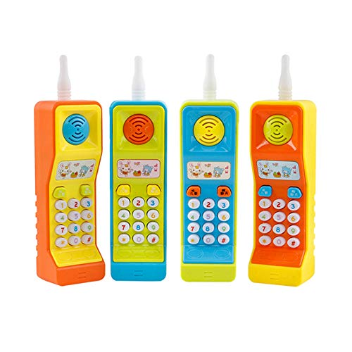 METRO TOY'S & GIFT Cool Cell Phone Mobile Phone for Kids, Early Education Toys with Music and Light (Random Colour)