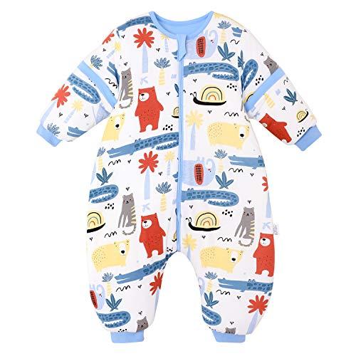 Saco de Dormir para bebé con piernas, para Invierno, Manga Larga, con pies y Zapatos de bebé, 3,5 TOG, tamaño 110 cm - 120 cm, Color Rojo