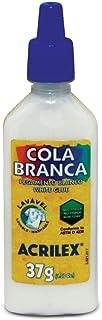 Cola 37 G, Acrilex 02840, Branco, Pacote de 12