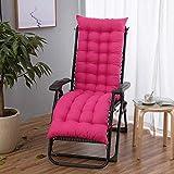 AINIYUE Cojines de Silla al Aire Libre, cojín de Silla de Tumbona, sillón reclinable de Escritorio para Patio de jardín, para cojín de Mueble Relajante de Dolor de Espalda L (48x155 cm) Rosa