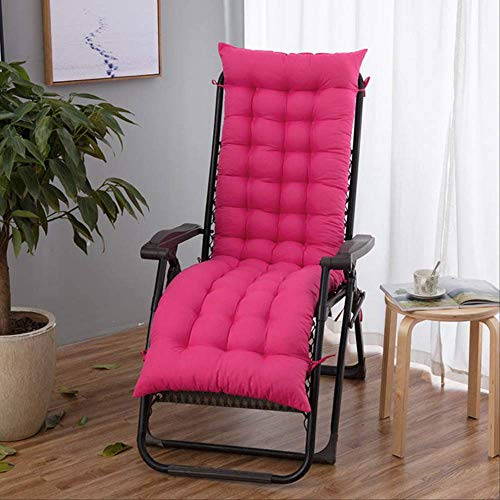 AINIYUE Cojines de Silla al Aire Libre, cojín de Silla de Tumbona, sillón reclinable de Escritorio para Patio de jardín, para cojín de Mueble Relajante de Dolor de Espalda L (48x155 cm) Rosa ⭐