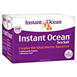 Instant ocean brand is available in a bucket that makes 160 gallons or a box (shown here) that makes 200 gallons