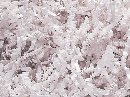 1/2 LB Crinkle Cut Paper Shred - White