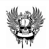 Calcomanía Calavera Halloween Wing Sticker Death Decal Horror Devil Poster Nombre Arte Tatuajes De Pared Decoración Mural 62X58Cm