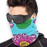Trista Bauer Patrón de flores de loto Hombres Mujeres Máscaras faciales Sombreros Calentador de cuello Máscara a prueba de viento